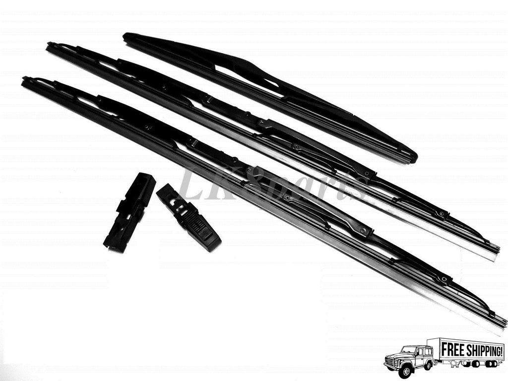 FRONT & REAR WIPER BLADE SET OF 3 & CLIPS