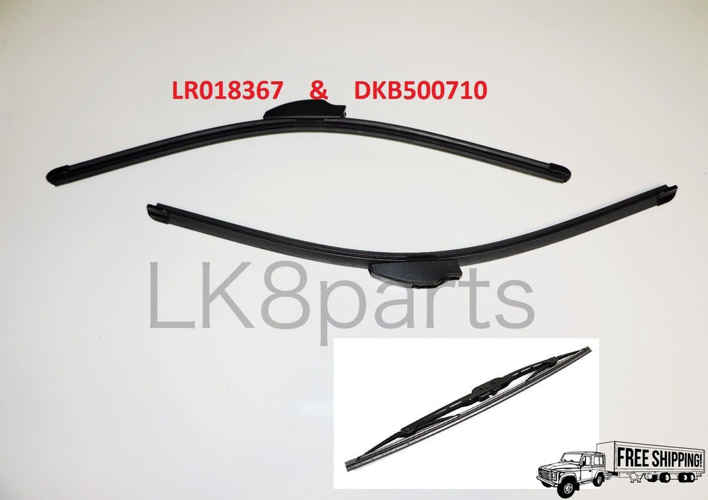 FRONT & REAR WIPER BLADE SET