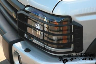 Black Plastic Front Light Guards