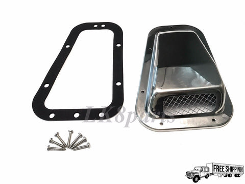 Wing Top Air Intake Grille Stainless Steel Left Hand