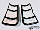 Black Plastic Rear Light Guards Pair