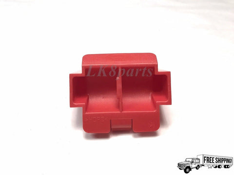 Red Tow Hitch Cover Blanking Plug Frame