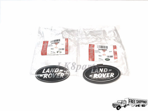 Genuine LAND ROVER Front Grille and Rear Tailgate Badge SET