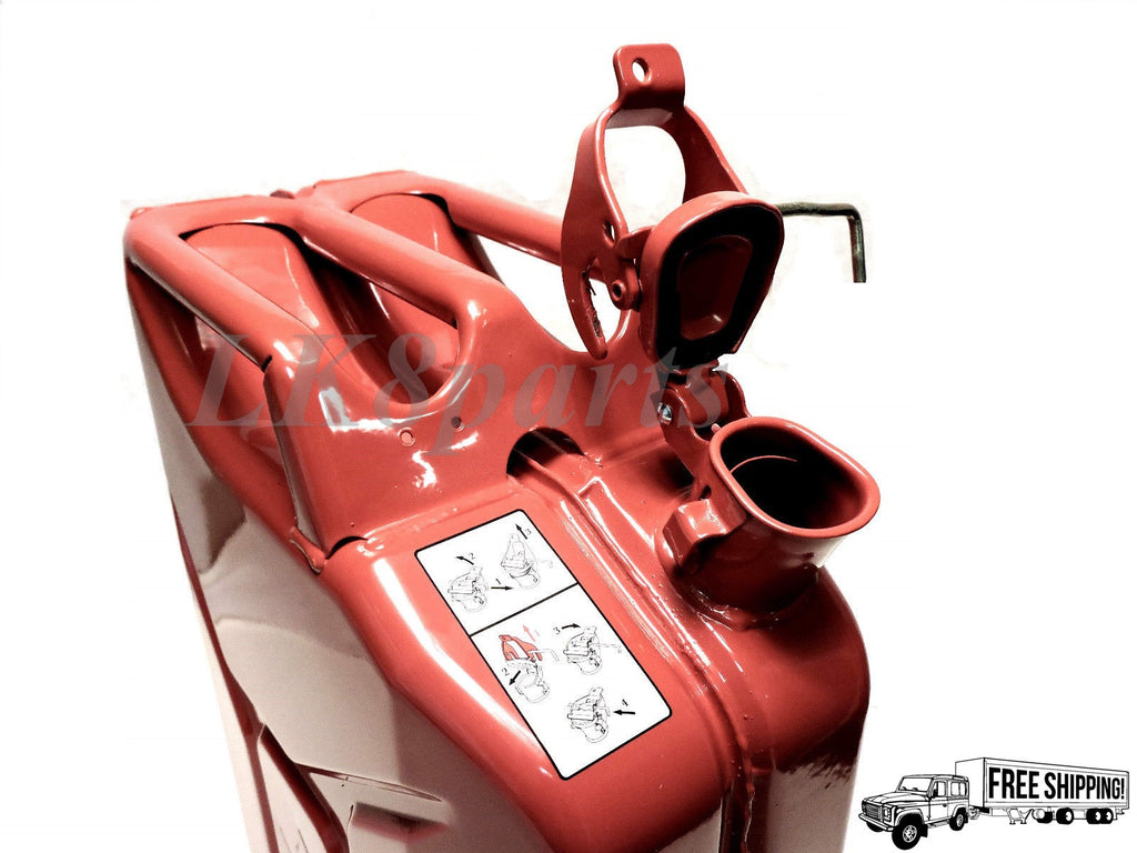 European Military Spec NATO Style Jerry Can Red