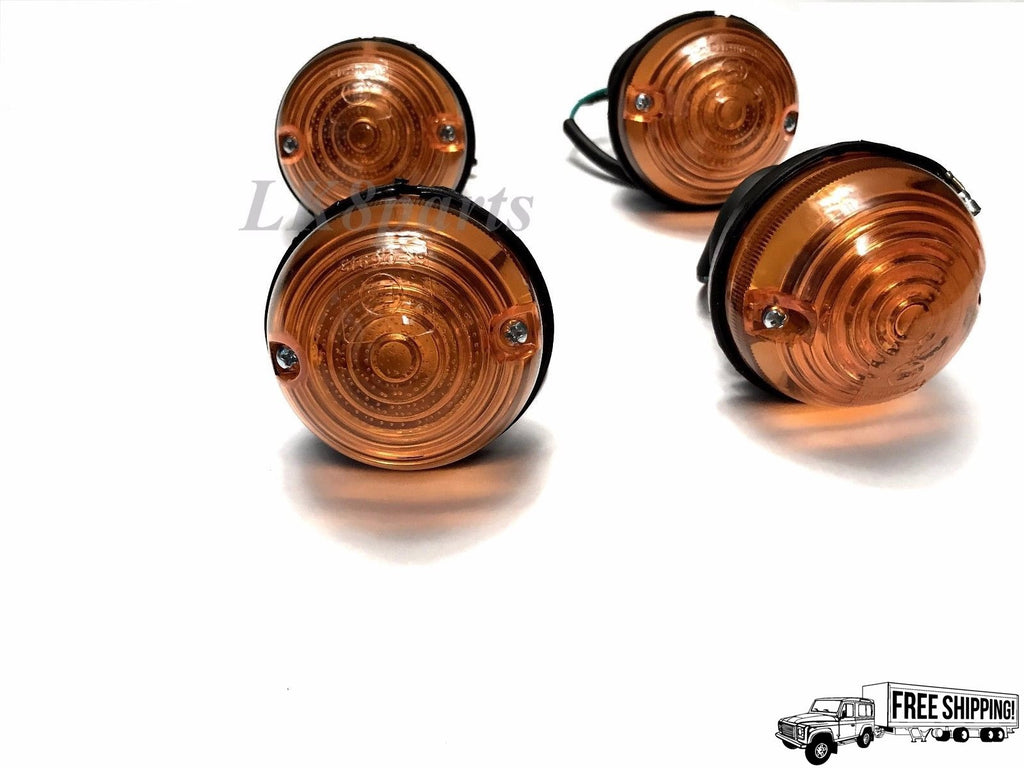 Front Flasher Lamp Amber 12V Set of 4