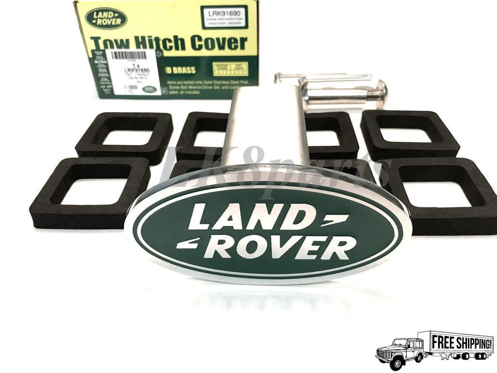 Genuine Trailer Hitch Cover - Chrome with Green Enamel Logo