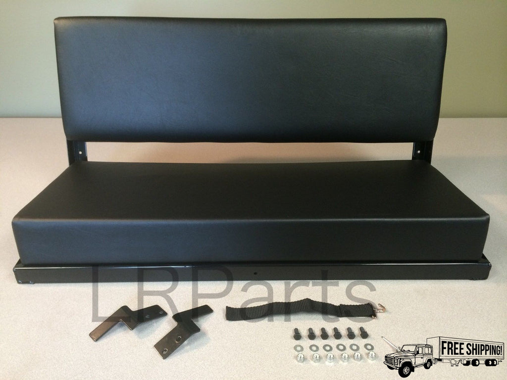 REAR BENCH SEATS BLACK VINYL SET OF 2