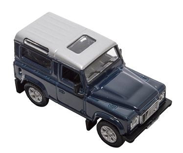 Land Rover Defender 90 Tamer Blue Diecast 1:76 Scale Model