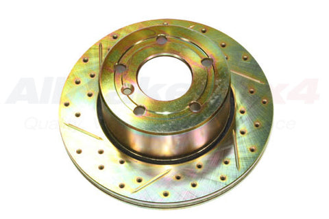 Front Brake Disc (Cross Drilled and Grooved)