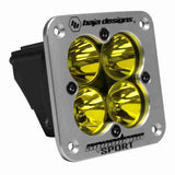 Baja Designs Squadron Sport, LED Spot, Amber, Flush Mount