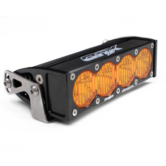 "Baja Designs OnX, 8"" Amber Wide Driving Pro Series 1 Cell LED Light Bar"
