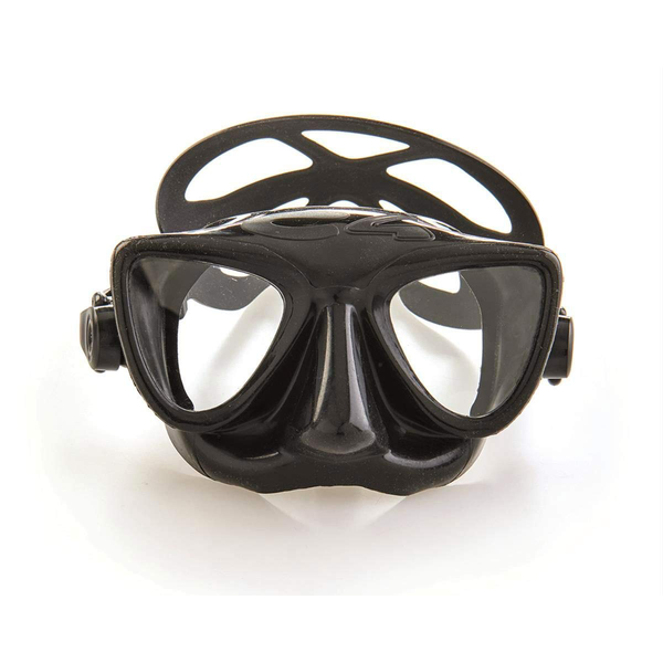 C4 Plasma Black Mask front view