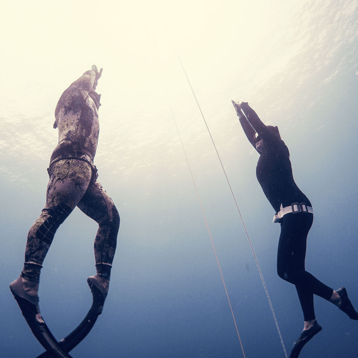 Level 1 Freediver with instructor