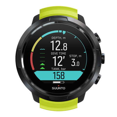 Suunto D5 Lime front view