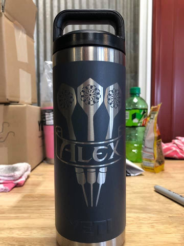 Custom gift 20oz bottle for dart club