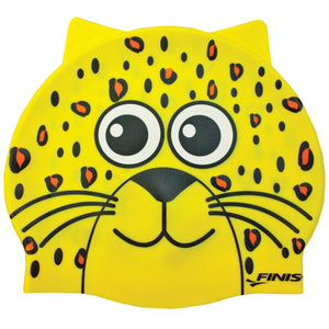 Finis Animal Heads Swim Cap Leopard Yellow