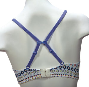 Wilderness Dreams Aztec Padded Bra with Cornflower Blue Accents
