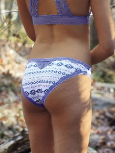 Wilderness Dreams Aztec Cornflower Blue Lace Trimmed Pantie
