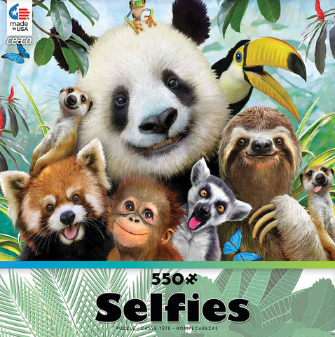 Ceaco Selfies In the Jungle 550 Piece Jigsaw Puzzle