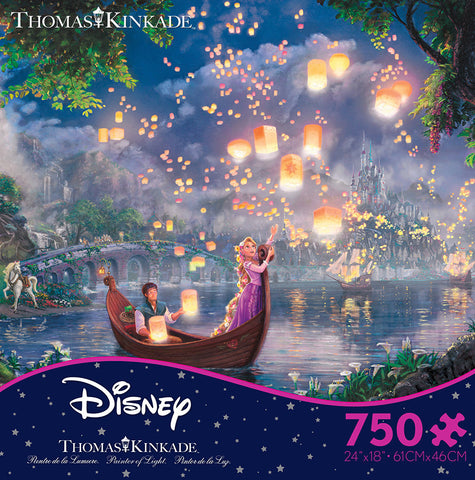 Thomas Kinkade Tangled Jigsaw Puzzle in Ceaco's Disney Collection