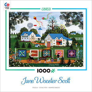 Ceaco Jane Wooster Scott Patchwork Sampler 1000 Piece Puzzle