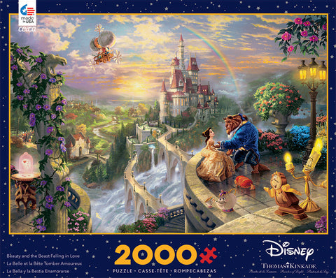Ceaco Thomas Kinkade Disney Beauty and the Beast 2000 Piece Puzzle