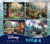 Ceaco Thomas Kinkade Disney 4 Pack 500 Piece Puzzles