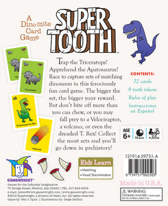 Gamewright Super Tooth - A Dyno-mite Card Game