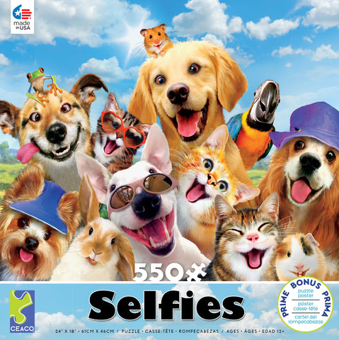 Ceaco Selfies Summer Fun 550 Piece Jigsaw Puzzle