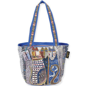 Laurel Burch Autumn Felines Medium Tote