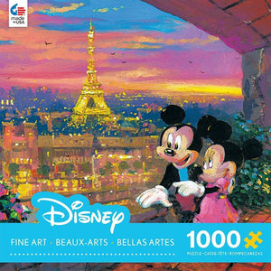 Ceaco Disney Mickey & Minnie Paris Sunset 1000 Piece Puzzles