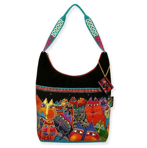 Laurel Burch Fantasticats Medium Scoop Hobo