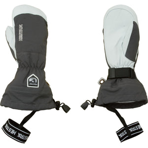 Hestra Grey Army Leather Heli Ski Mitt