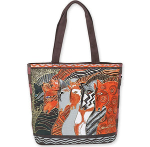 Laurel Burch Moroccan Mares Shoulder Tote