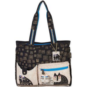 Laurel Burch Wild Cats Shoulder Tote