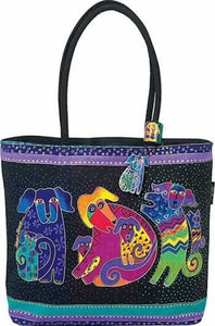 Laurel Burch Dog & Doggies Square Tote