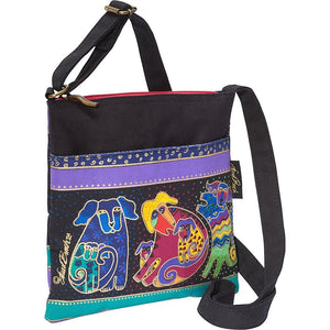 Laurel Burch Dog & Doggies Crossbody Purse