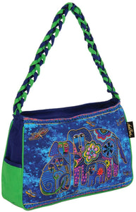 Laurel Burch Canine Family Medium Hobo Zipper Top Bag