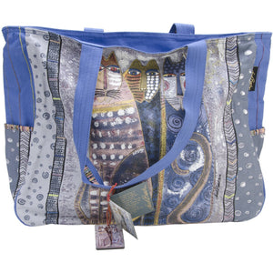 Laurel Burch Autumn Felines Oversized Tote