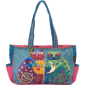 Laurel Burch Celestial Felines Medium Tote