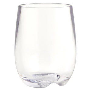 Strahl Osteria Polycarbonate 8oz Stemless Wine Glass - Set of 4