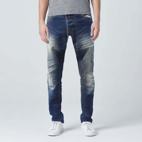 Carrot Cut Stone Wash Jeans