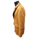 REVERSIBLE LONG COAT Camel /Grey
