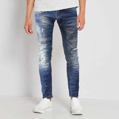Stone Wash Slightly Ripped Jeans