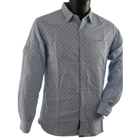 Blue Shirt with Dots 3809