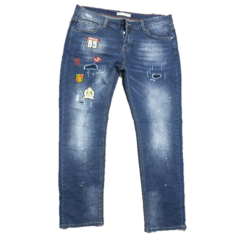 Big Size Patch Jeans