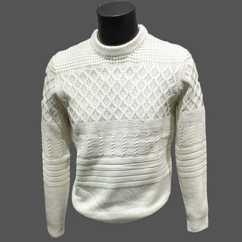 White Crew Neck Jumper