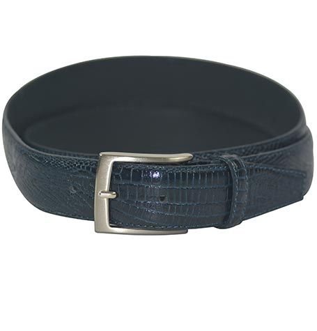 NAVY BLUE REAL LEATHER MADE ITALY.