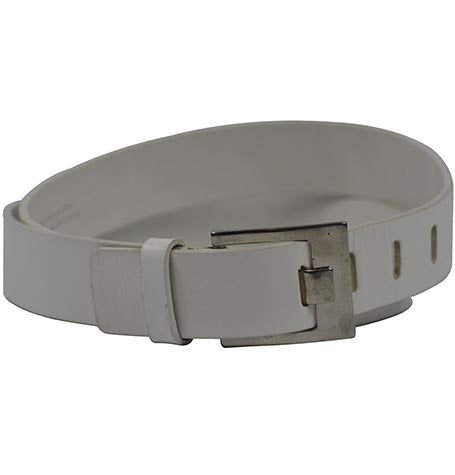 WHITE REAL LEATHER BELT MADE IN ITALY