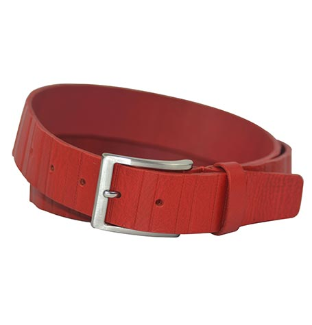 RED COLOUR LEATHER BELT